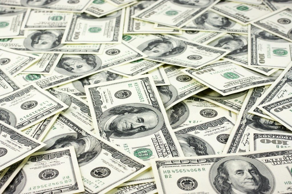 scattered paper bills