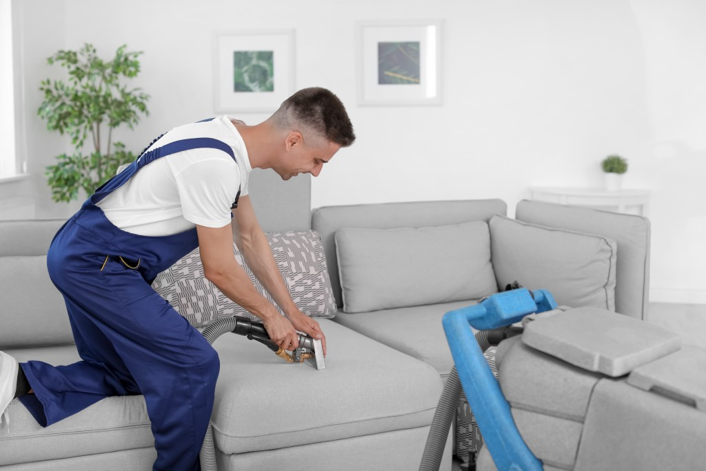 worker from a cleaning service company