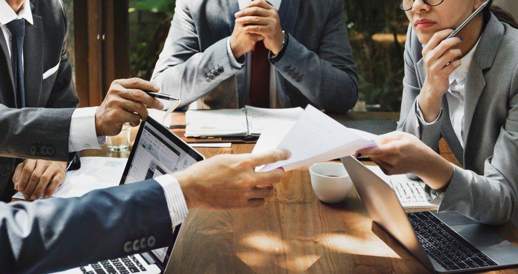 Team of entrepreneurs working together