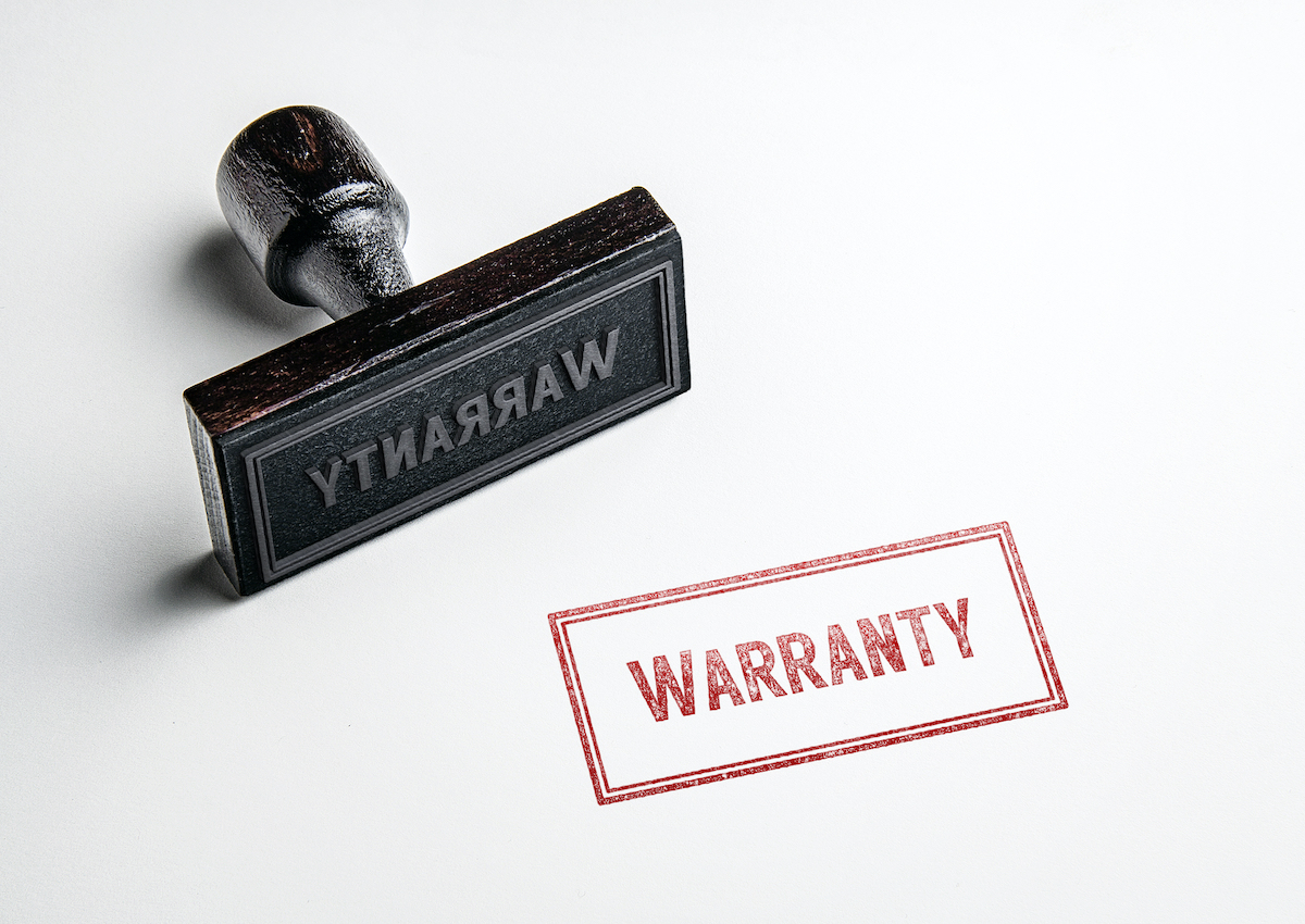 rubber warranty stamp