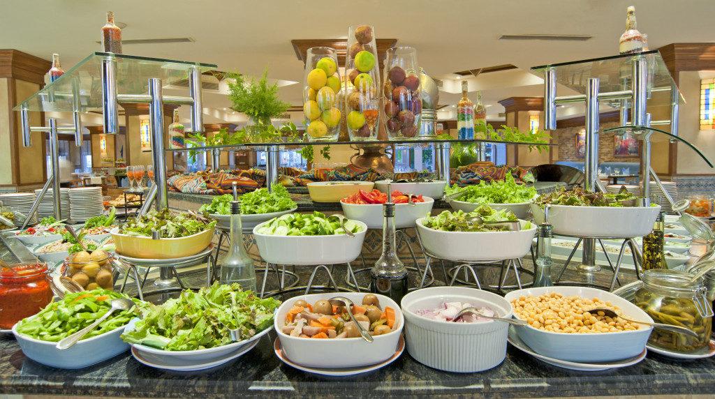buffet in a restaurant