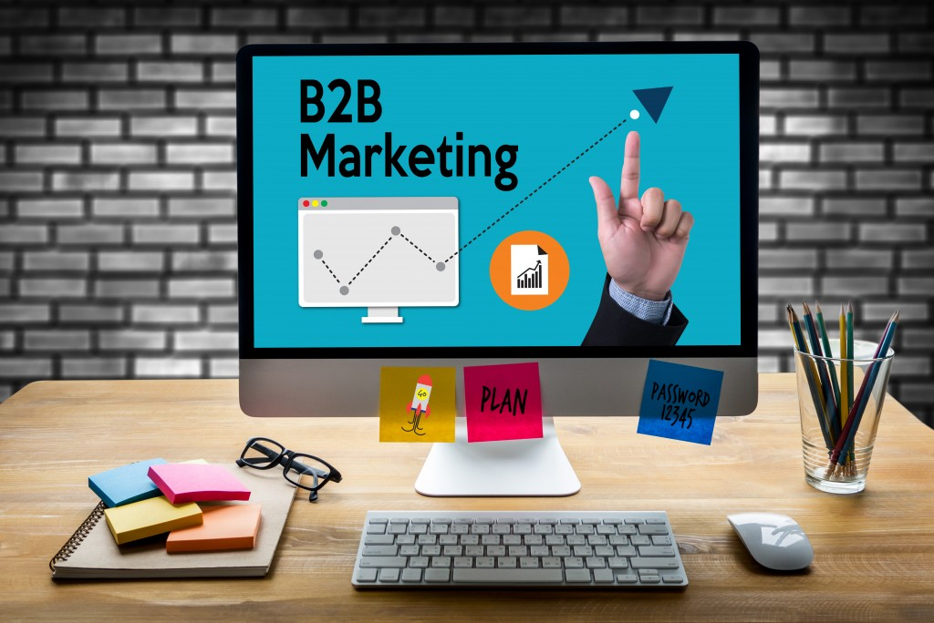 B2B marketing concept