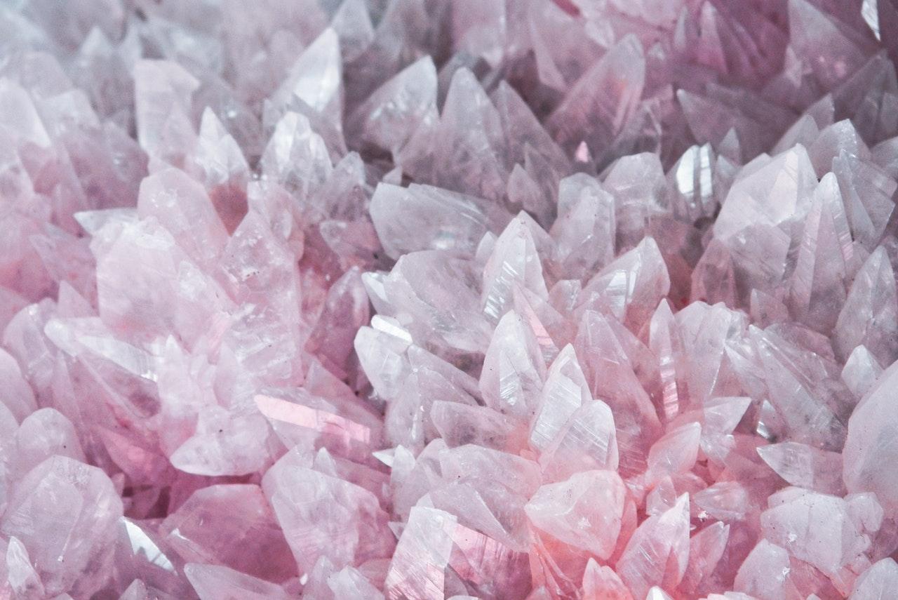 a pile of rose quartz