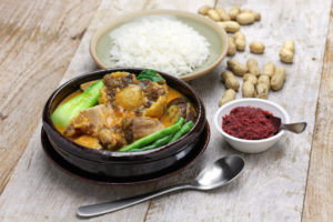 kare kare and rice